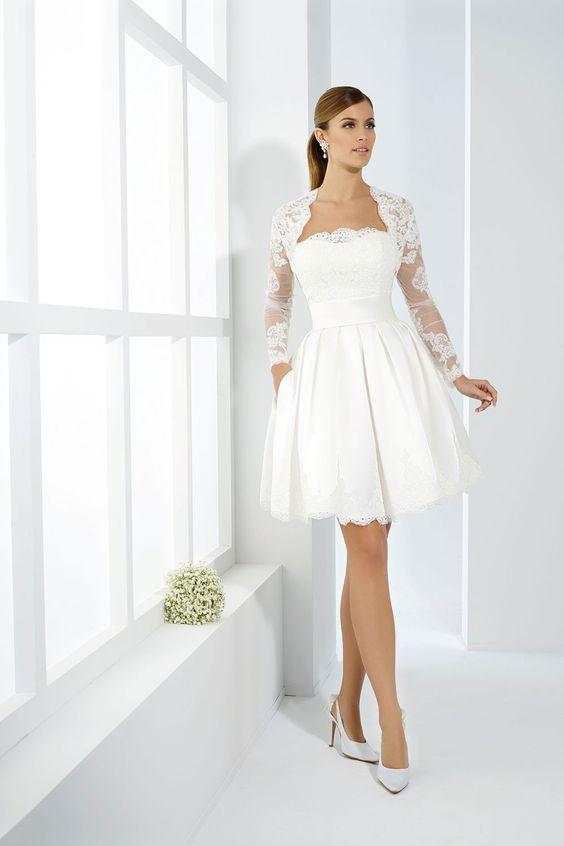 Romatisches Brautkleid für das Standesamt | Hochzeit ...