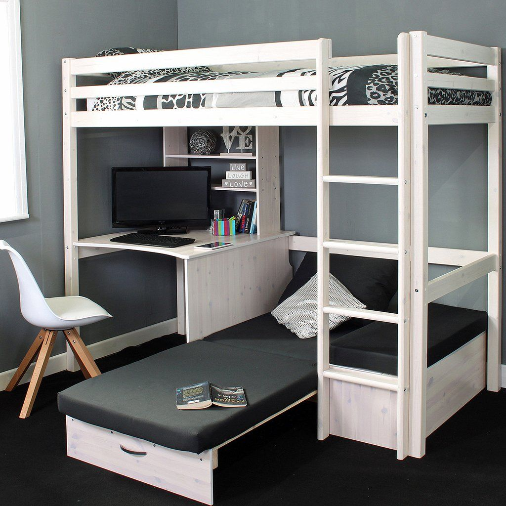 Thuka Hit High Sleeper Bed With Desk Chairbed With Images