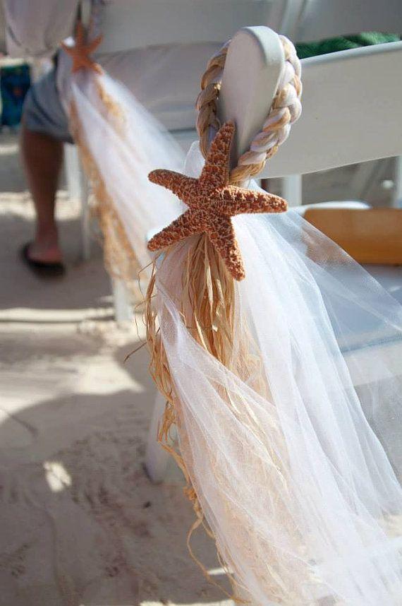 Strandhochzeit, Strandkorb Kleiderbügel, über 20 Farben erhältlich, Gang Dekor, Ziel Hochzeit, Beach Pew Bow, Ziel Hochzeit, Pew Bow   – Bodas