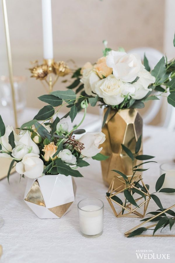 A Greenery-Filled Dream Wedding with Ivory and Gold Details - WedLuxe Magazine