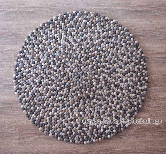 ON SALE 10 % OFF:Natural felt ball rugs 100 cm felt ball rug, Round felt ball rugs , felted rugs, free home delivery from Nepal
