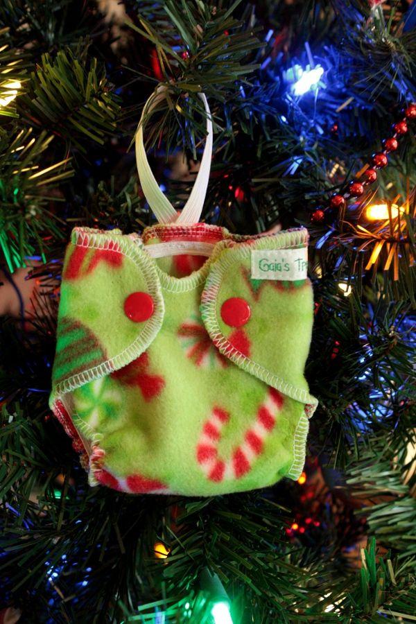 Cute lil diaper ornament! | Christmas stockings, Christmas ...