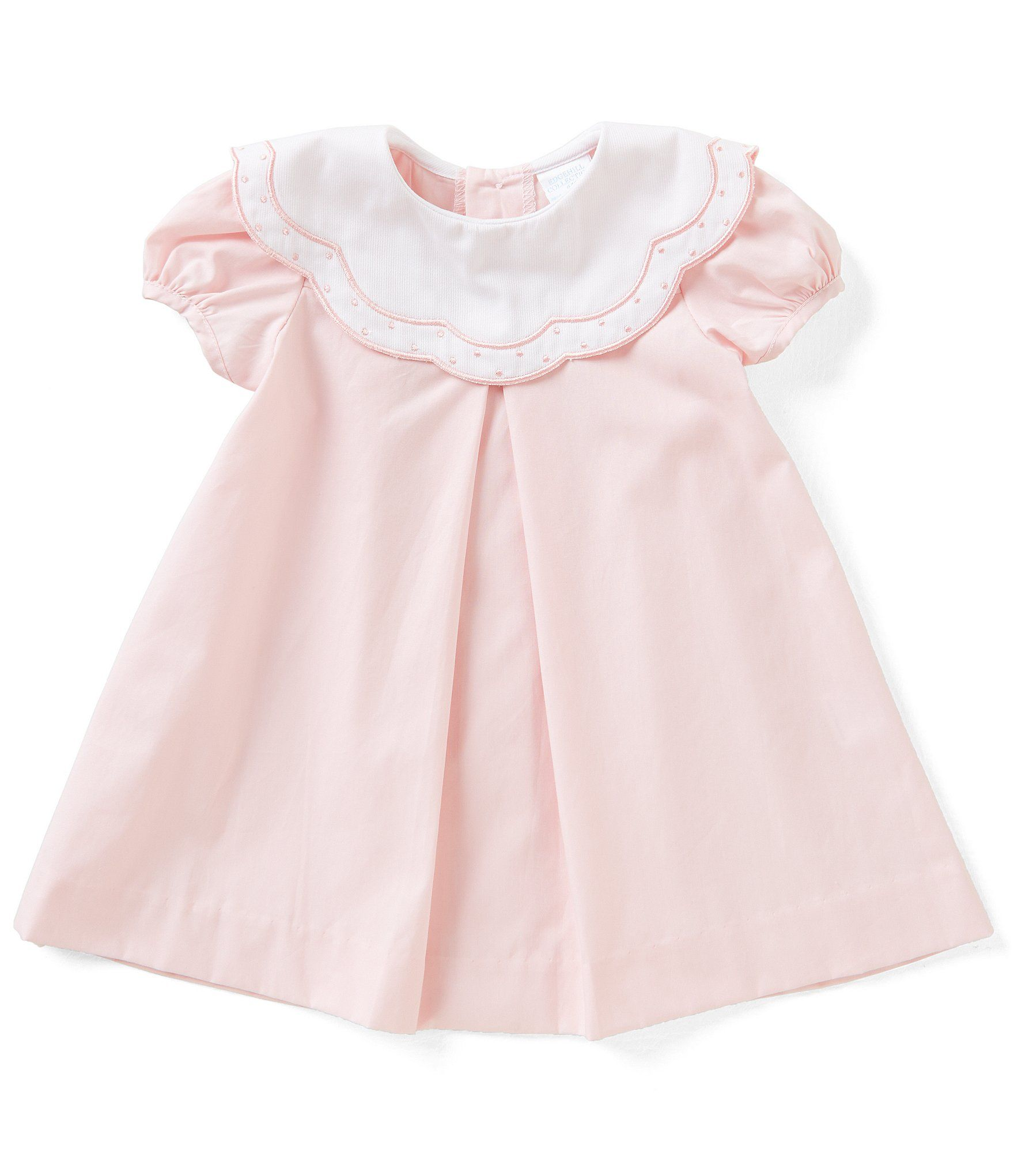 47fe4fbf6 Edgehill Collection Baby Girls 324 Months Embroidered ShortSleeve ...