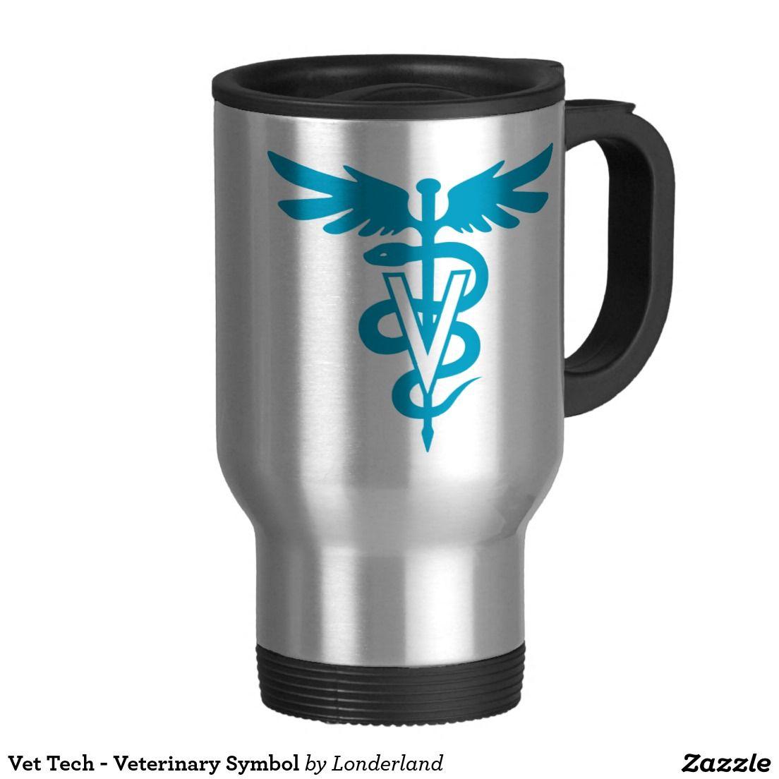 Vet tech veterinary symbol travel mug veterinary symbol vet tech veterinary symbol 15 oz stainless steel travel mug biocorpaavc Gallery
