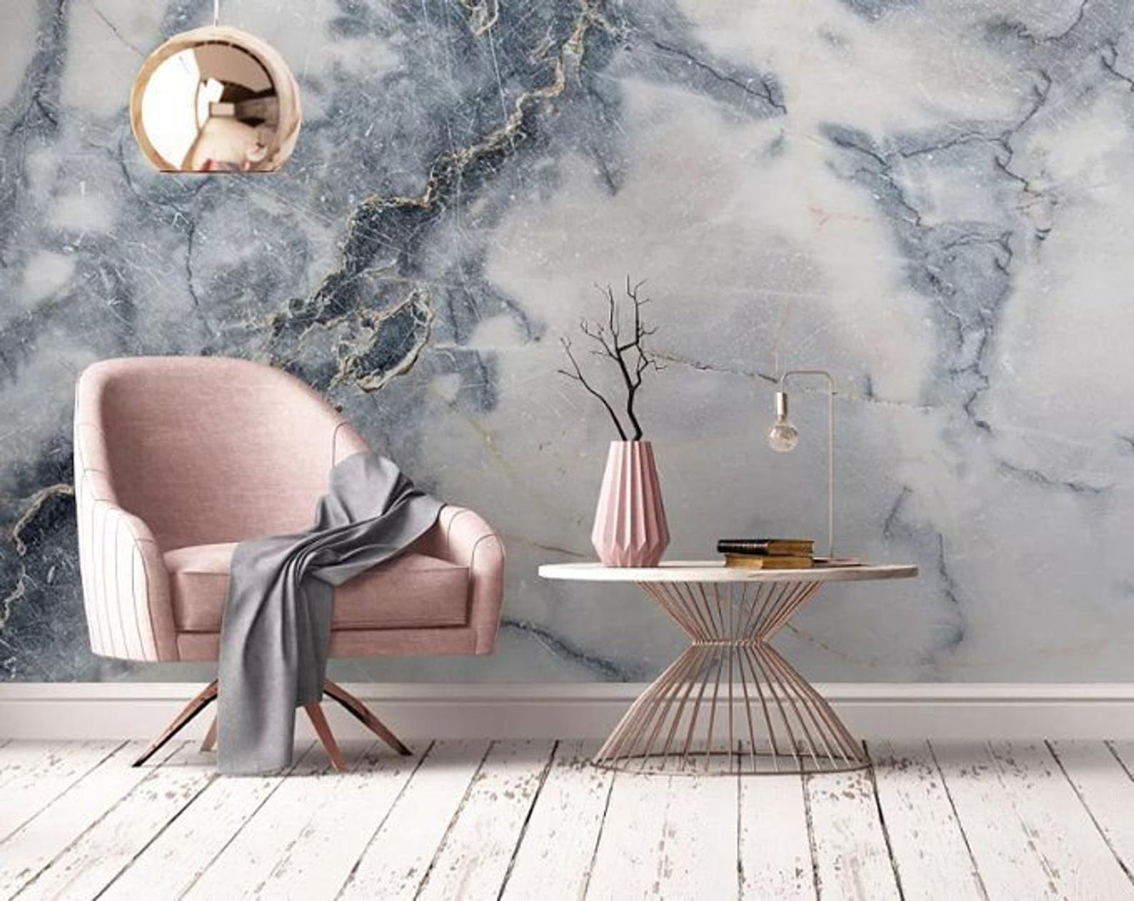 Marble Stone Wallpaper Wall Mural Art Decor Living Room Etsy Stone Wallpaper Wall Wallpaper Marble Wallpaper