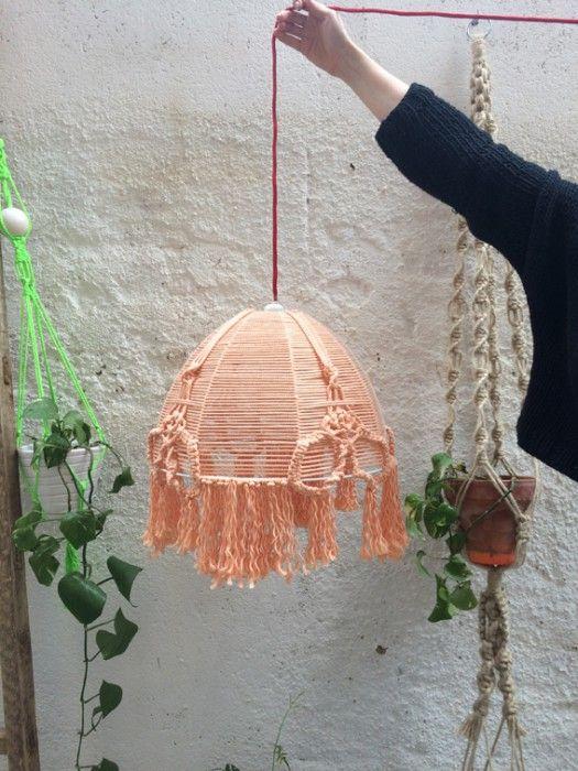 Workshop lampara de macram en barcelona 14 05 2015 - Pantallas lamparas barcelona ...