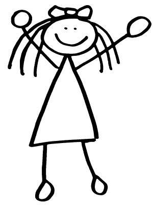 girl stick people clipart stick figures pinterest girl rh pinterest com clip art stick figures free clip art stick figures people