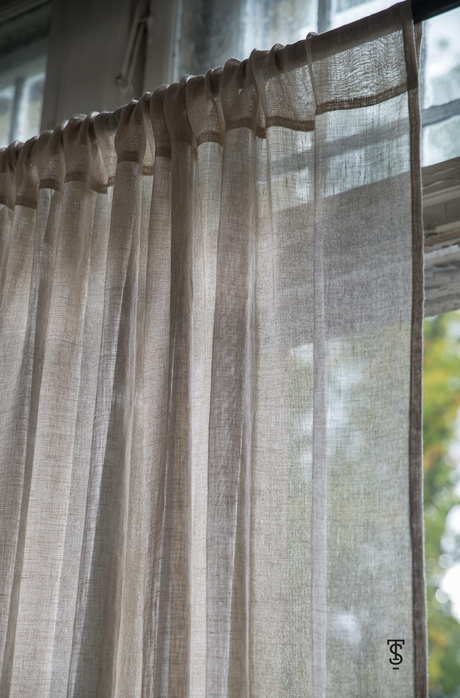 Transparent Linen Window Curtains Tyvek Curtains Etsy Stylish