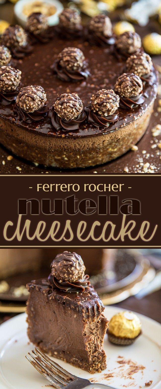 Ferrero Rocher Nutella Cheesecake #cheesecake