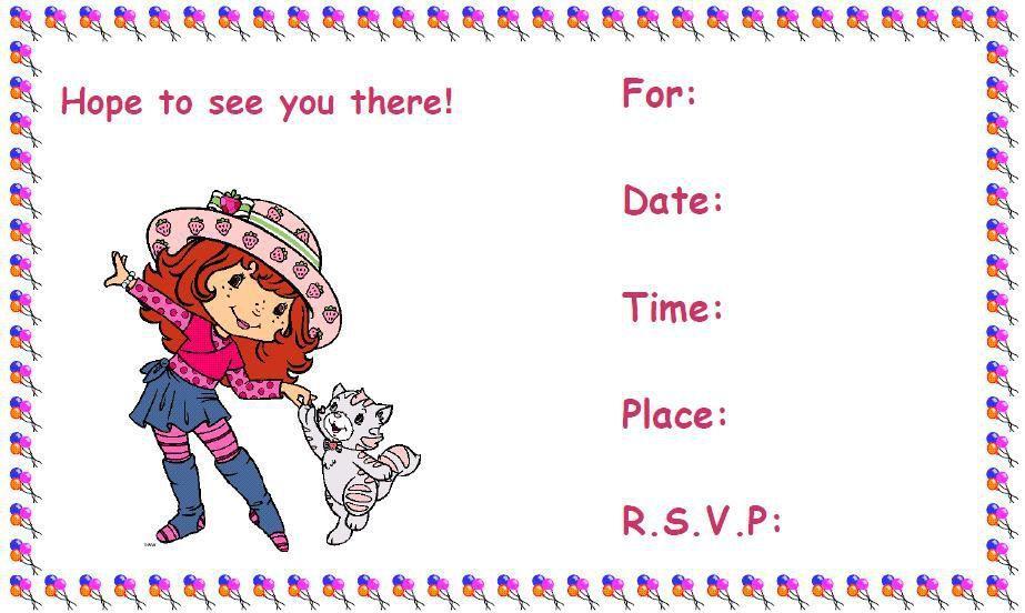 Free Online Birthday Invitations Canada Birthday Party