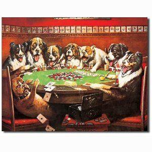 Dogs Playing Poker Metal Tin Sign Dogs Playing Poker Poker Artwork