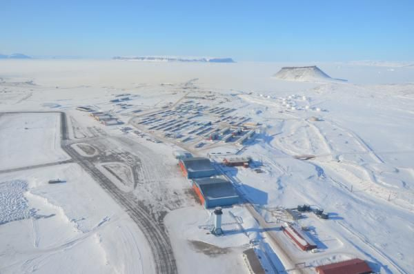 View Of The Base From The Air With Images Greenland Thule