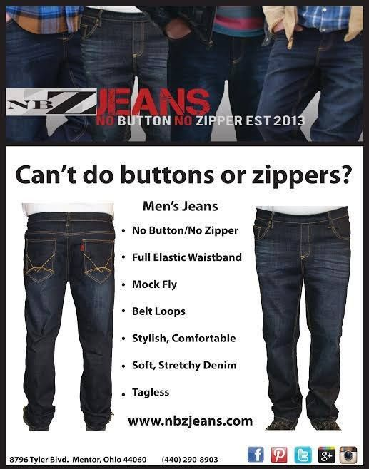 89004941bf Trouble with buttons or zippers  NBZ Jeans for men feature a full elastic  waist