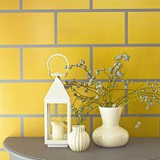 yellow tile with gray grout - Google Search