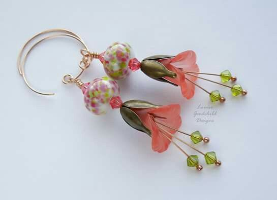 Earrings perfect for spring .... and all year round!  Made by Louise Goodchild Designs x