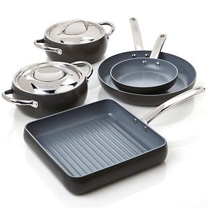 Todd English Hard Anodized By Greenpan 7 Piece Cookware Set At Hsn