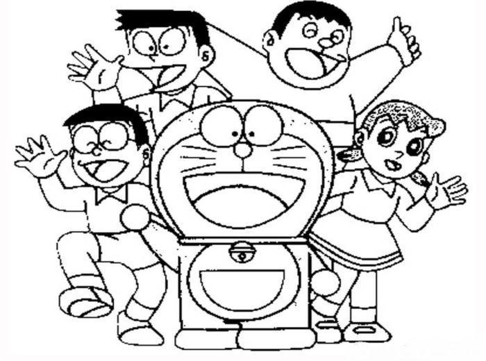 20 Gambar Sketsa Buku Mewarnai Gambar Karakter Kartun