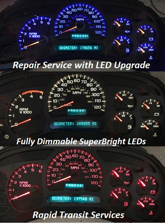 2003 chevy avalanche instrument panel problems