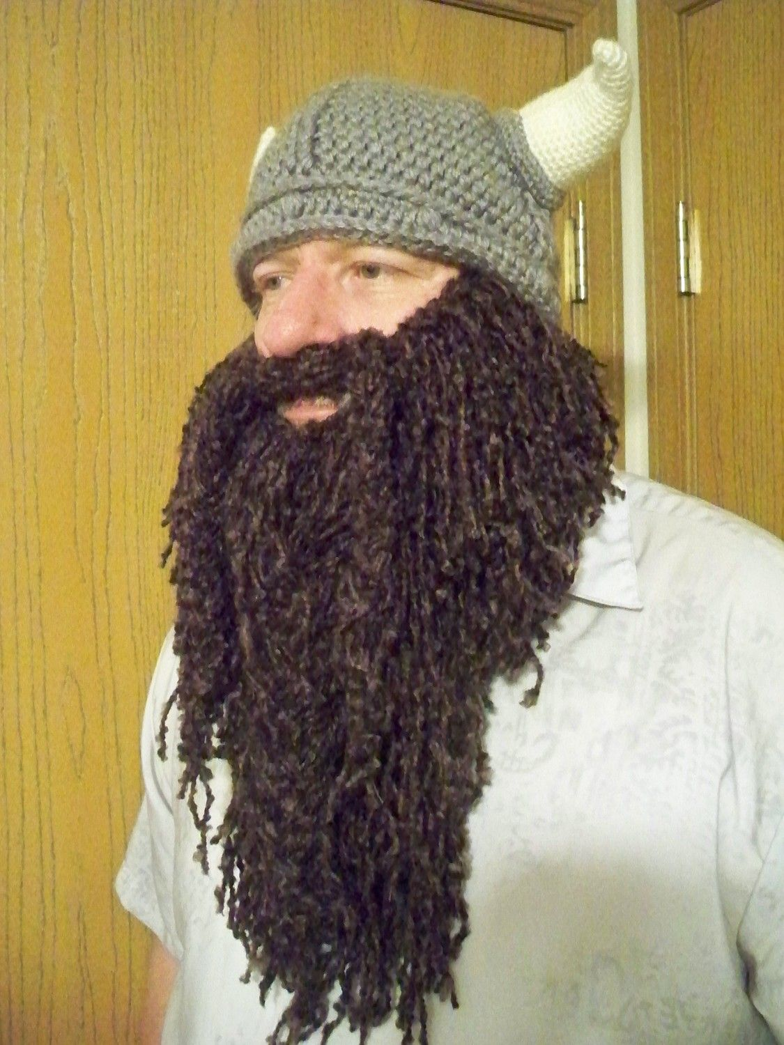 Soft curly crocheted full length beard and mustache hat crochet soft curly crocheted full length beard and mustache bankloansurffo Images