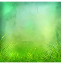 Watercolor Green Grass Background Vector Green Grass Background