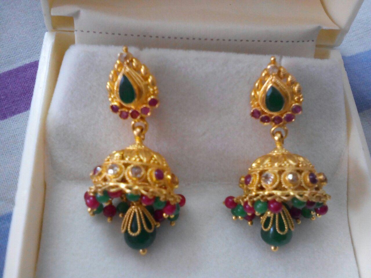 Pin by Vemula Sasikala on gold | Pinterest | Ear rings, India ...
