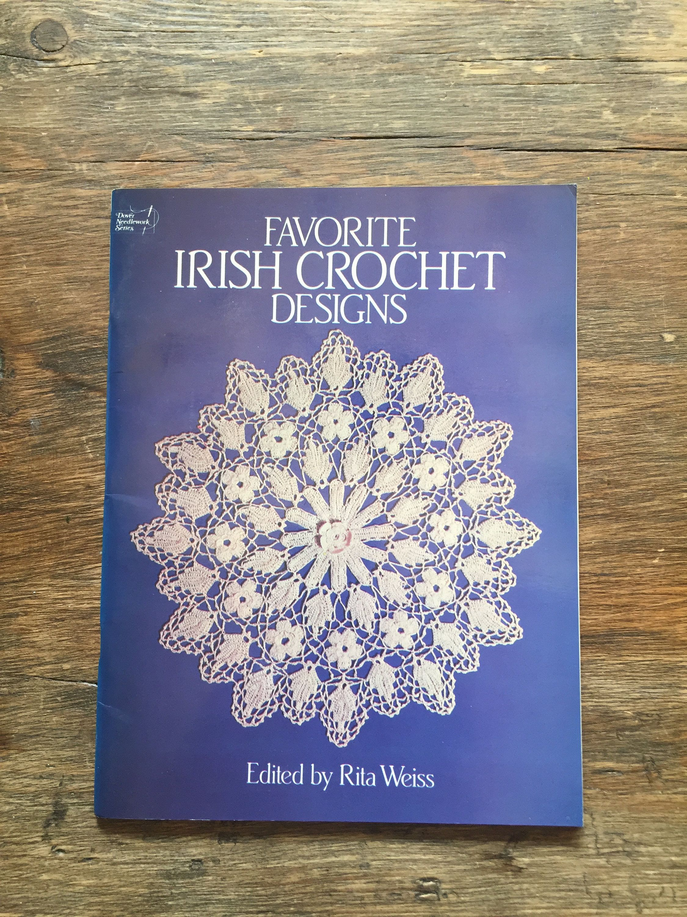 Favourite Irish Crochet Designs - Dover Needlework Series, paperback August  1986 by StitchinVintage on Etsy