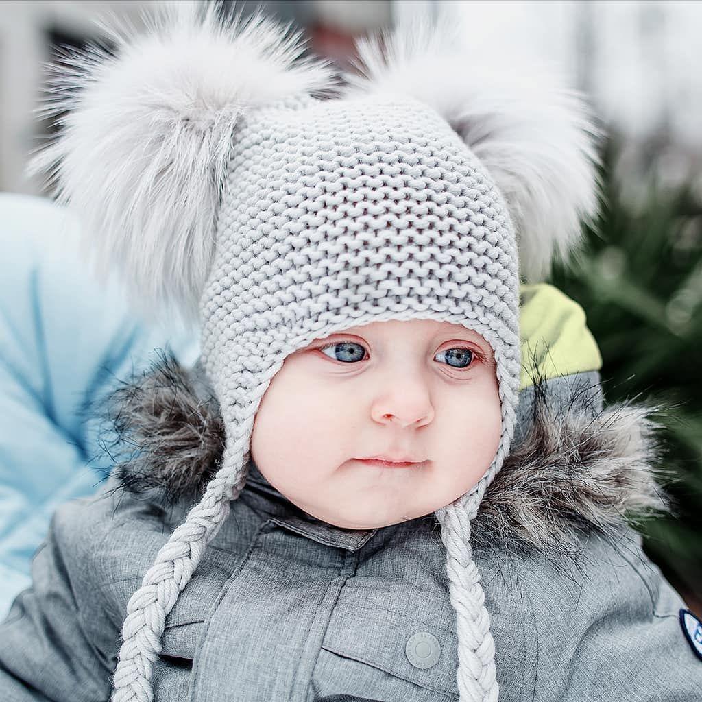 panda beanie pompom knit hat kids fashion style шапка платочной вязкой  детская шапка с помпонами 90cd8669f2a26