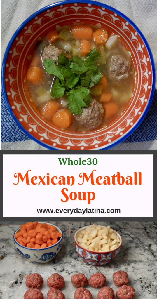 Mexican Meatball Soup - Everyday Latina