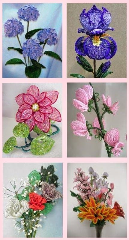 French Bead Flowers French Bead Flower Making A Vintage