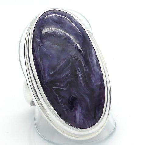 Charoite Ring in 925 Sterling silver | Magnificent stone deep swirls symbolise stirring spiritual powers | Saggitarius | Scorpio | Australian Supplier Melbourne
