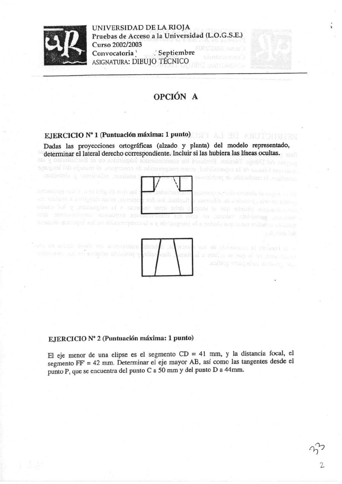 Examenes De Evaluacion Bachillerato Dibujo Tecnico Para El Acceso A La Universidad Ebau 2018 Convocatorias Junio Septiembr Bachillerato Evaluacion Examen