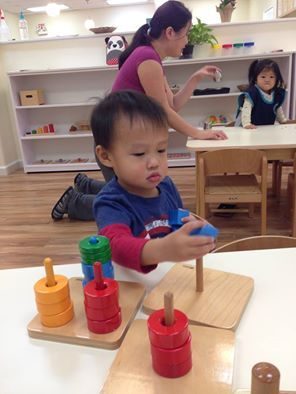 We are excited to have our students back from break. Our toddler students are already choosing their own Montessori work from the shelves and practicing their hand-eye coordination and other skills. Welcome back everyone!