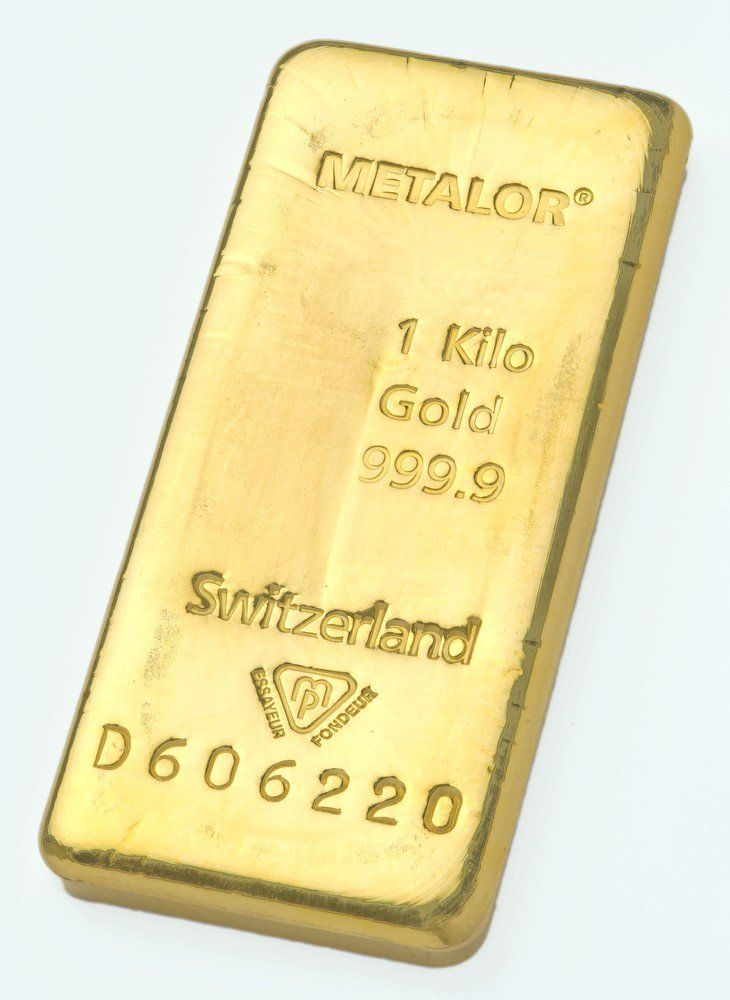Metalor 1kg Gold Cast Bar Gold Bullion Gold Money Gold Investments