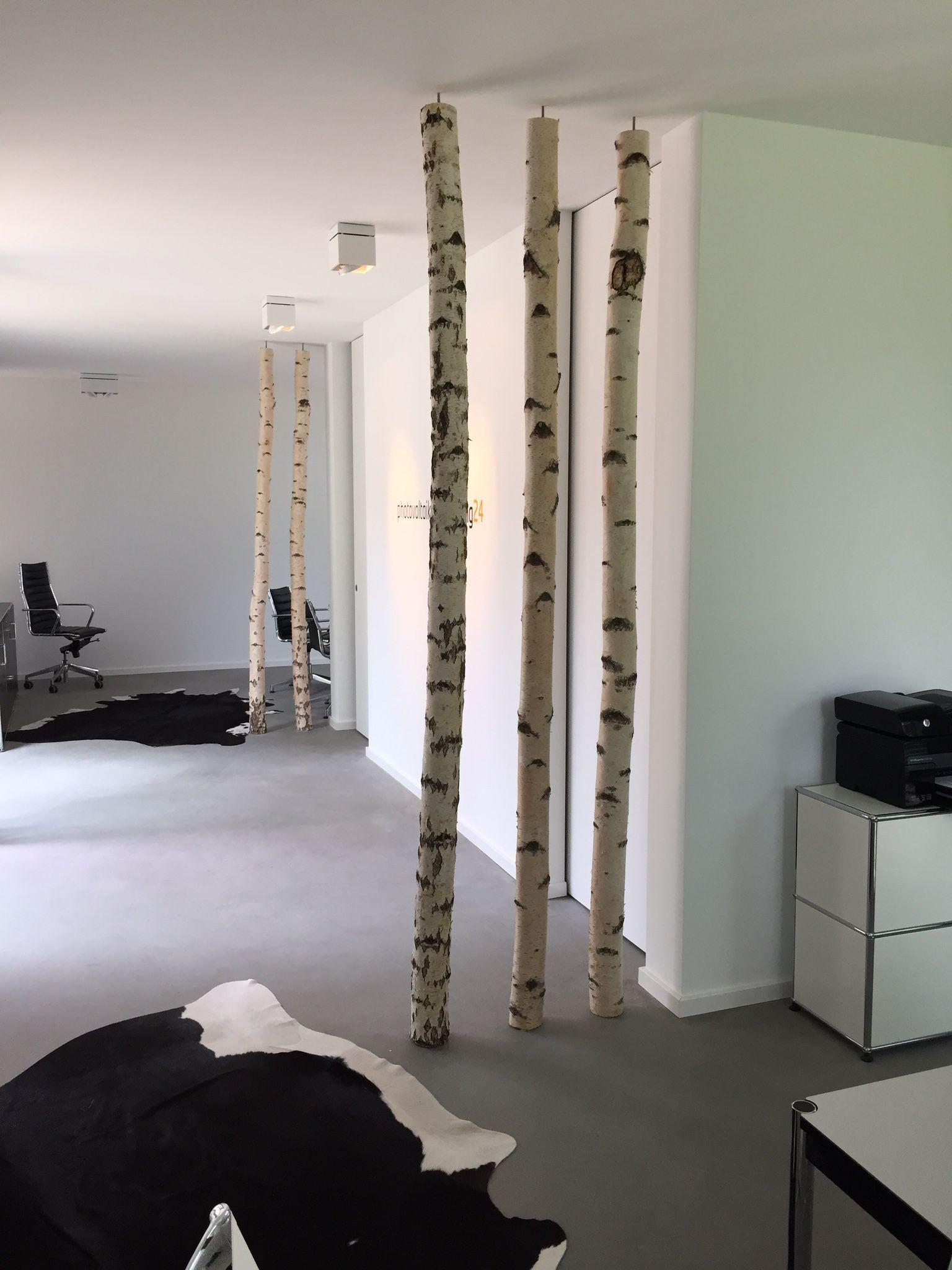 Birkenstamme Im Wohnzimmer Home Decor Home Diy Diy Bedroom Decor