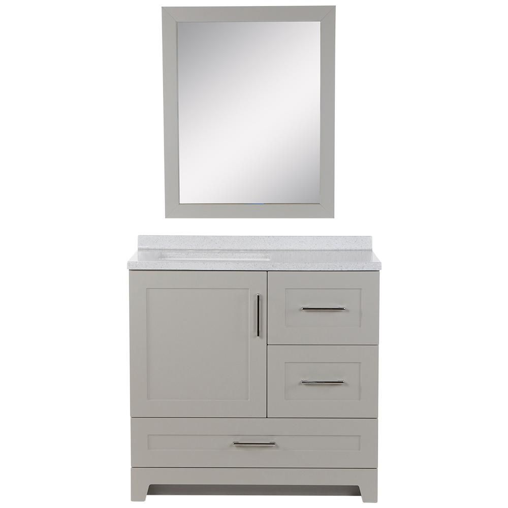 Home Decorators Collection Dorston 36 5 In W Bath Vanity In Gray