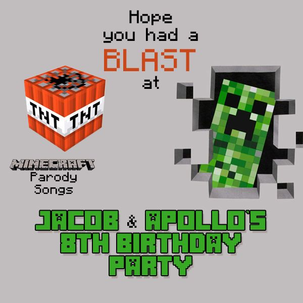 Pin On Minecraft Birthday