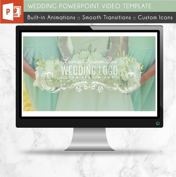 Wedding PowerPoint Video Template Template and Presentation templates