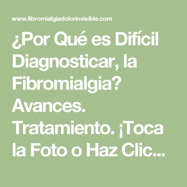 como diagnosticar la fibromialgia