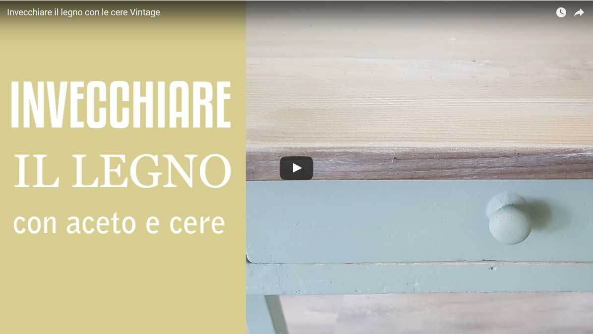 Come Sbiancare Il Legno video tutorial - invecchiare il legno con aceto e vintage