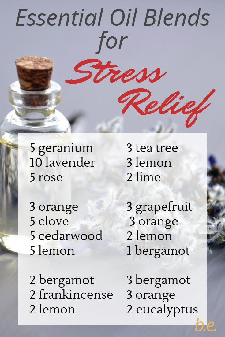 Essential Oils for Stress Relief ~