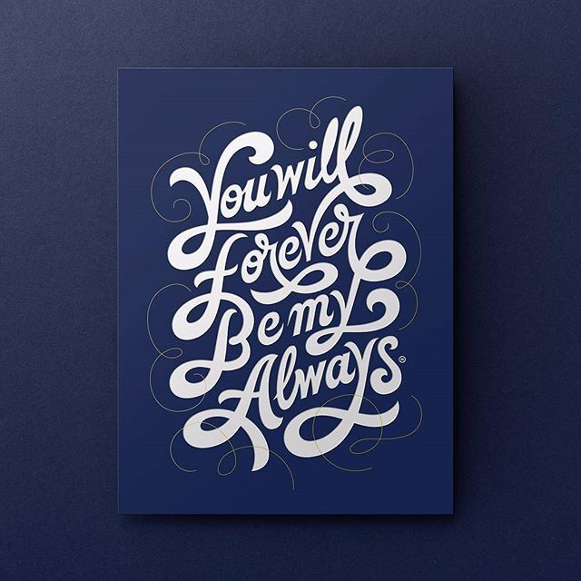 Forever by @anthonyjhos - typography & lettering design love ❤️ - typostrate - typostrate.com