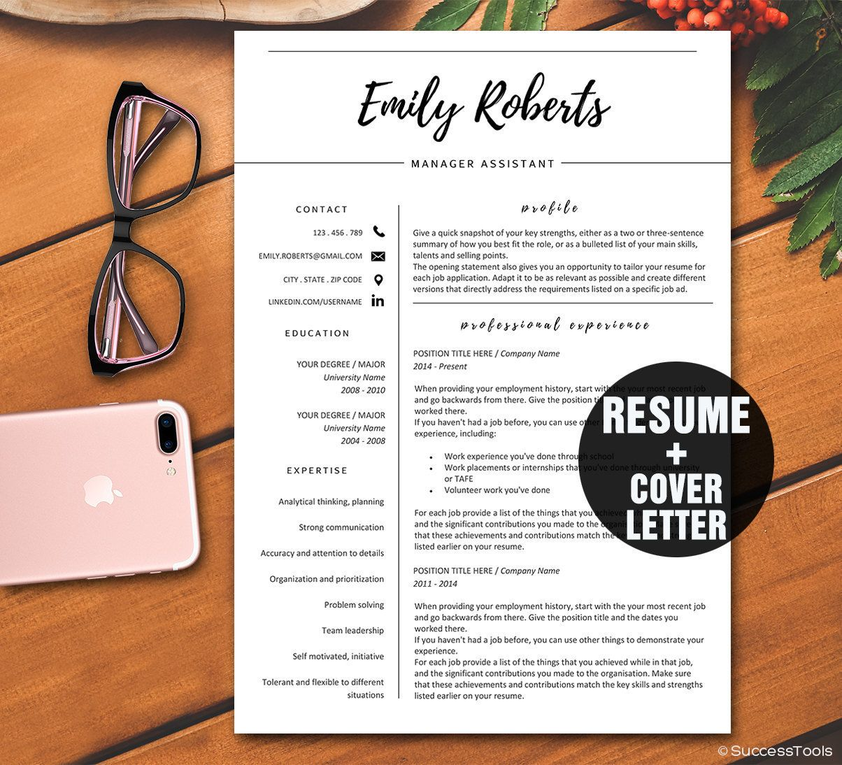 Word Template For Resume Cover Letter%0A creative resume templates word Cover Letter Modern Resume Template CV  Template Professional Resume Template Instant Download