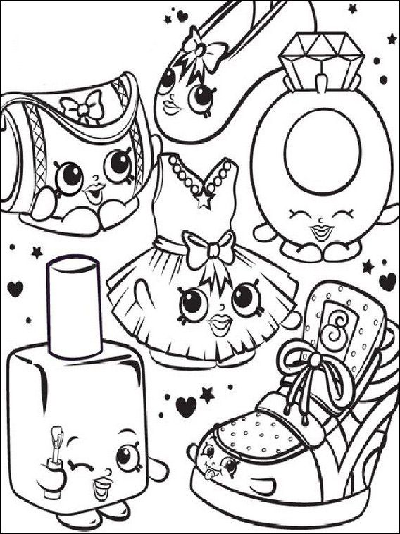 Pin By Miroslava Jovan On Bojanke Shopkins Colouring Pages