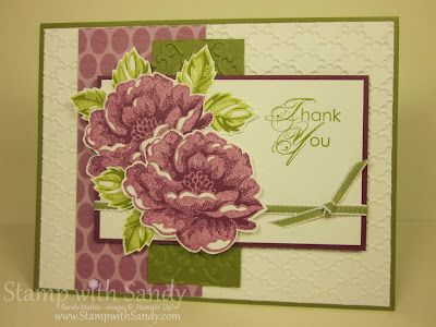 """Using Stampin Up """"Stippled Blossoms"""" stamp"""
