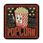Movie Theatre Marquee Home Cinema Popcorn Custom Beverage Coaster   Zazzle.com