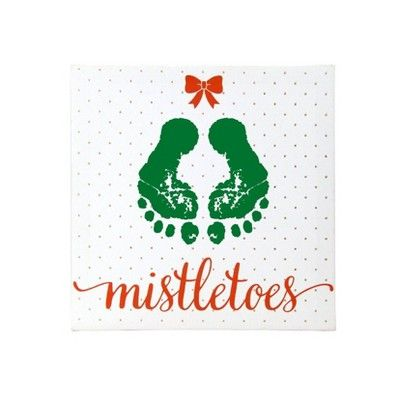 Pearhead Mistletoes Canvas, White #mistletoesfootprintcraft