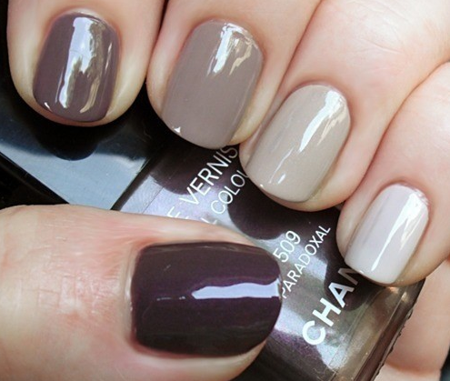 I want to try these pretty nails! Uñas cafes, Uñas