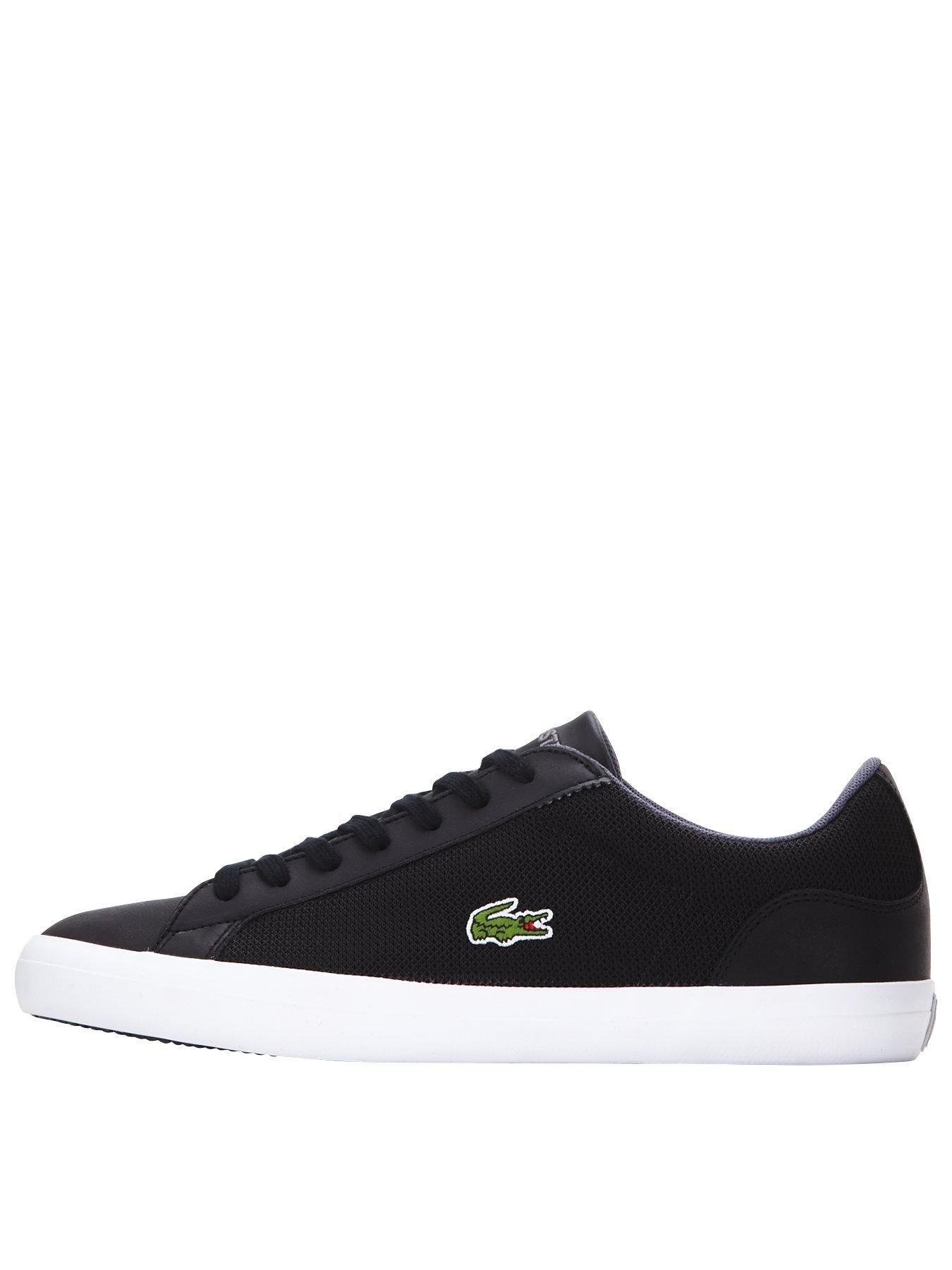 4ab52cbe74d8 Lacoste Lerond Mens Trainers – Black A classic French style from a  high-quality brand
