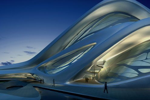 Abu Dhabi Performing Arts Center exterior perspective    Zaha Hadid is speaking @Metropolitan Museum of Art on March 14th. Tickets already bought. I can't wait.