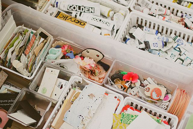 how to organize art supplies in a small space house organized life pinterest organize. Black Bedroom Furniture Sets. Home Design Ideas